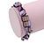 Purple Shell Nugget Stretch Bracelet - 17cm L - view 3