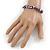 Purple Shell Nugget Stretch Bracelet - 17cm L - view 4
