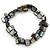 Slate Black Shell Nugget Stretch Bracelet - 17cm L