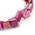 Magenta Shell Nugget Stretch Bracelet - 17cm L - view 2