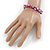 Magenta Shell Nugget Stretch Bracelet - 17cm L - view 4