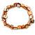 Coral/ Orange Shell Nugget Stretch Bracelet - 17cm L