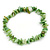 Light Green Shell Nugget Stretch Bracelet - up to 19cm