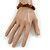 Brown Shell Nugget Stretch Bracelet - up to 19cm - view 3