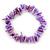 Lavender Shell Nugget Stretch Bracelet - up to 19cm
