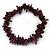 Deep Purple Shell Nugget Stretch Bracelet - up to 19cm