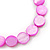Bright Pink Shell Flex Bracelet - Adjustable up to 20cm L - view 3