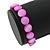 Bright Pink Shell Flex Bracelet - Adjustable up to 20cm L - view 4