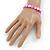 Bright Pink Shell Flex Bracelet - Adjustable up to 20cm L - view 2