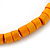 Unisex Orange Wood Bead Flex Bracelet - up to 21cm L - view 4