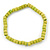 Unisex Light Green Wood Bead Flex Bracelet - up to 21cm L