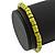 Unisex Light Green Wood Bead Flex Bracelet - up to 21cm L - view 2