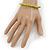 Unisex Light Green Wood Bead Flex Bracelet - up to 21cm L - view 3
