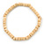 Unisex Natural Wood Bead Flex Bracelet - up to 21cm L - view 1