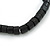 Unisex Black Wood Bead Flex Bracelet - up to 21cm L - view 2