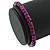 Unisex Purple/ Violet Wood Bead Flex Bracelet - up to 21cm L - view 4