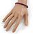 Unisex Purple/ Violet Wood Bead Flex Bracelet - up to 21cm L - view 2