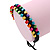 Multicoloured Wood Bead Friendship Bracelet With Black Cord - Adjustable - view 6