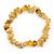 Dusty Yellow Semiprecious Nugget Stone Beads Flex Bracelet - 18cm L