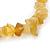 Dusty Yellow Semiprecious Nugget Stone Beads Flex Bracelet - 18cm L - view 2