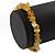 Dusty Yellow Semiprecious Nugget Stone Beads Flex Bracelet - 18cm L - view 3