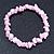 Baby Pink Semiprecious Nugget Stone Beads Flex Bracelet - 18cm L - view 5