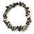 Grey Semiprecious Nugget Stone Beads Flex Bracelet - 18cm L