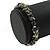 Grey Semiprecious Nugget Stone Beads Flex Bracelet - 18cm L - view 3