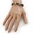 Grey Semiprecious Nugget Stone Beads Flex Bracelet - 18cm L - view 4