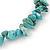 Turquoise Nugget Stone Beads Flex Bracelet - 18cm L - view 3