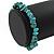 Turquoise Nugget Stone Beads Flex Bracelet - 18cm L - view 4