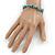 Turquoise Nugget Stone Beads Flex Bracelet - 18cm L - view 2