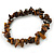 Tiger Eye Semi-Precious Nugget Stone Flex Bracelet - 18cm L - view 5