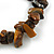 Tiger Eye Semi-Precious Nugget Stone Flex Bracelet - 18cm L - view 3