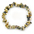 Grey/ Light Olive Semiprecious Nugget Stone Beads Flex Bracelet - 18cm L - view 1