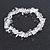 Transparent Glass Nugget Beads Flex Bracelet - 18cm L - view 6