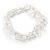 Transparent Glass Nugget Beads Flex Bracelet - 18cm L - view 7