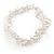 Transparent Glass Nugget Beads Flex Bracelet - 18cm L - view 2
