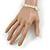 Transparent Glass Nugget Beads Flex Bracelet - 18cm L - view 3
