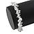 Transparent Glass Nugget Beads Flex Bracelet - 18cm L - view 4