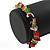 Multicoloured Semiprecious Nugget Stone Beads Flex Bracelet - 18cm L - view 4