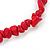 Rose Red Semiprecious Nugget Stone Beads Flex Bracelet - 18cm L - view 3