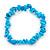 Light Blue Semiprecious Nugget Stone Beads Flex Bracelet - 18cm L