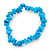 Light Blue Semiprecious Nugget Stone Beads Flex Bracelet - 18cm L - view 5