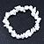 White Semiprecious Nugget Stone Beads Flex Bracelet - 18cm L