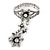 Vintage Inspired Crystal Floral Flex Bracelet With Daisy Flower Crystal Ring Attached - 18cm Length, Ring Size 7/8 - view 8