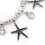 Silver Tone Crystal & Starfish Charm Flex Bracelet - up to 20cm L - view 4