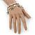 Silver Tone Crystal & Starfish Charm Flex Bracelet - up to 20cm L - view 2
