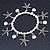 Silver Tone Crystal & Starfish Charm Flex Bracelet - up to 20cm L - view 6