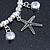 Silver Tone Crystal & Starfish Charm Flex Bracelet - up to 20cm L - view 5